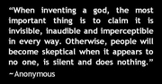 When Inventing a god...