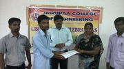 Jairupaa College of Engineering central Library is Celebrated Library Week 2014