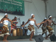 Akwaba Dance Company on stage at Franco-ontarian festival