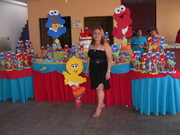DECORACION DE BABY SHOWER ELMO