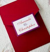 Flourished Elegance Pocketfold Wedding Invitation