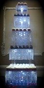 5 Tier Crystal Chandelier Cupcake Stand