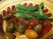 heirlooms and steamed okra