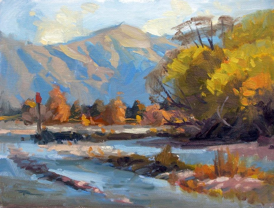 """Cardrona River - 8x10"""" SOLD"""