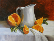 Orange with White Jug
