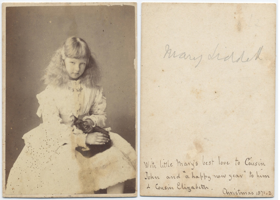 Mary Liddell cdv, back and front