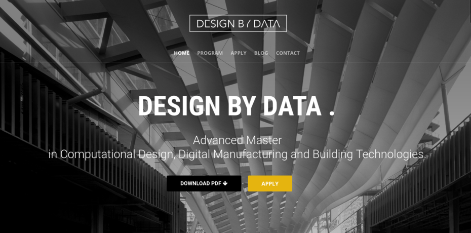 design by data website cover