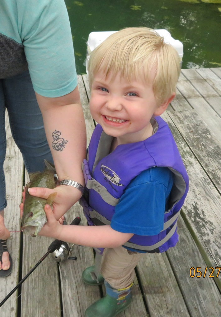 mikey 1st fish
