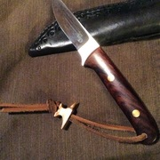 """Greg Dash Custom with TC Collectible Cutlery copper""""Anvil"""" Lanyard bead"""