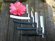 Small straight razor collection .