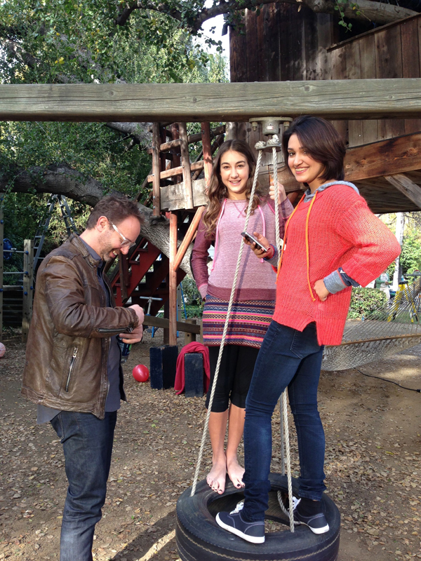 Jessica Sportelli shoots a commercial called Treehouse