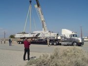 8Fuselage Lowered into place