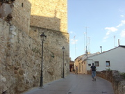 Castle/entrance to old town in Requena, Valencia, Spain