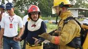 Tecnica de combate de incendio con el sistema CAF
