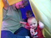 gramma in tent with my sweeties