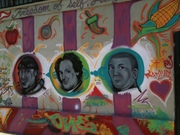 Larry, Moe and Curly Mural at La Abeja in Mount Washinton, LA, CA