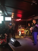 Riffriders playing at Oasis for January 2016 Erie Beer Society