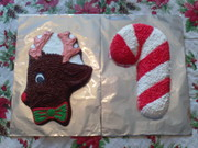 reindeer and candy cane