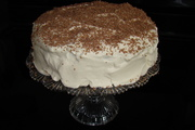 Baileys cake with whipped frosting
