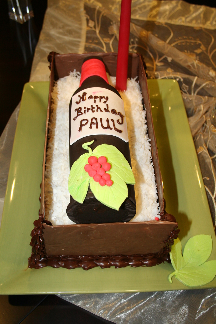 Super Wine Bottle Birthday Cake Cake Decorating Community Cakes We Bake Funny Birthday Cards Online Unhofree Goldxyz
