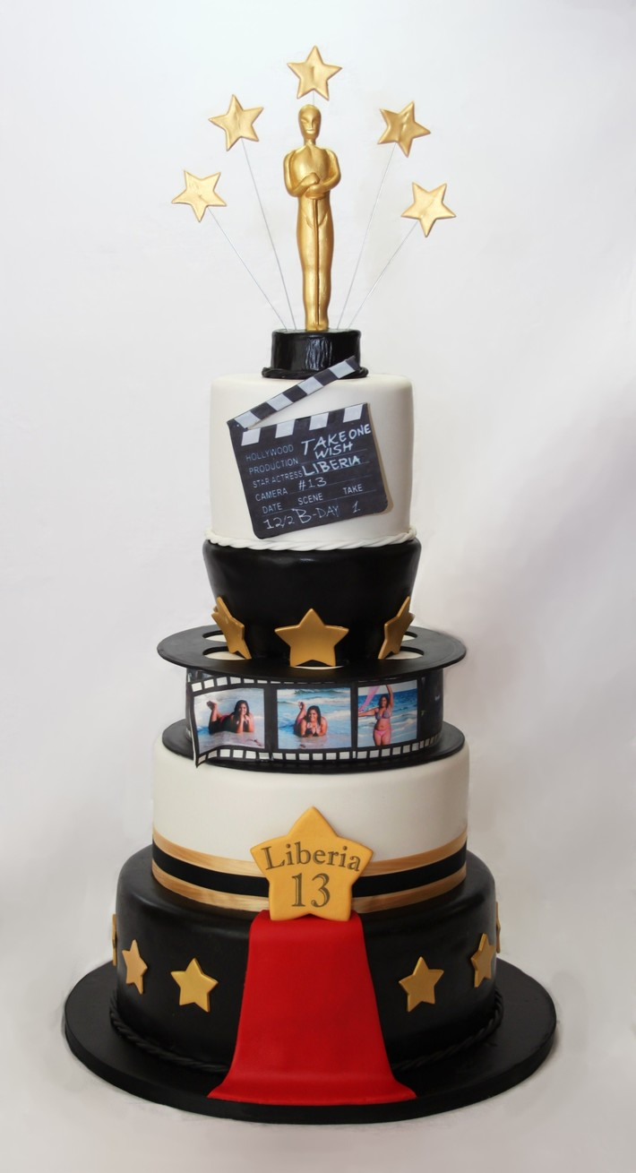 Excellent Hollywood Birthday Cake Cake Decorating Community Cakes We Bake Funny Birthday Cards Online Overcheapnameinfo