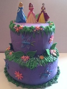 Disney Princess 1st Birthday Cake