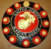 USMC Graduation Cake