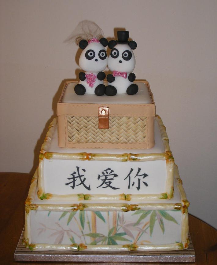 Panda Wedding Cake W858