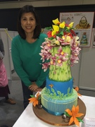 My tropical cake at the Hong Kong Wilton Cake Competition
