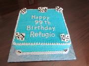 Domino theme birthday cake