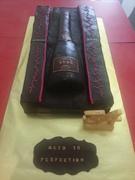 Champagne bottle in case