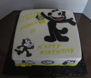 Felix the cat Birthday cake