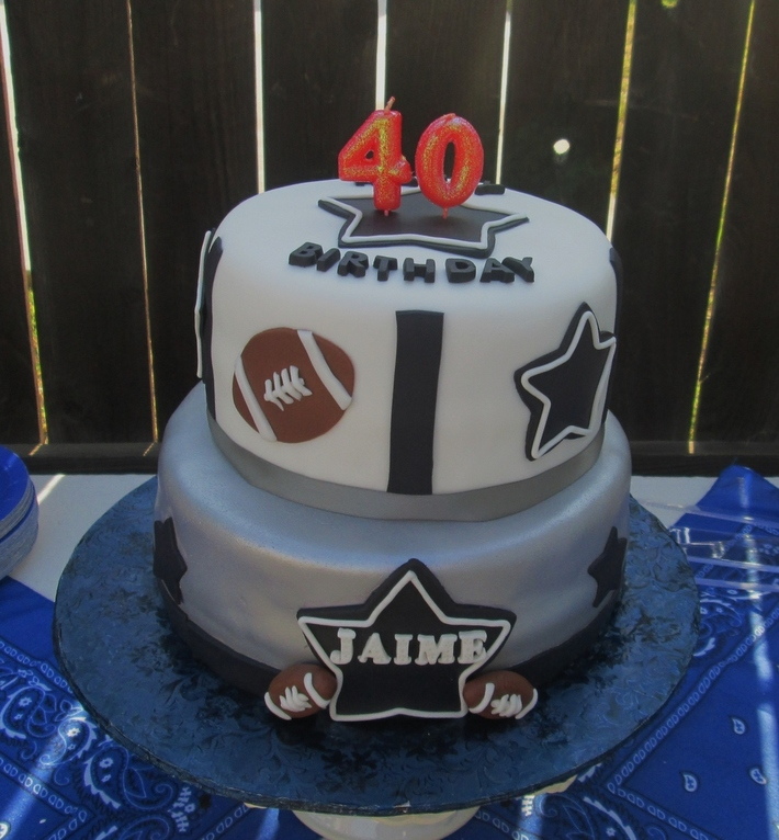 Dallas Cowboy theme 40th Birthday cake