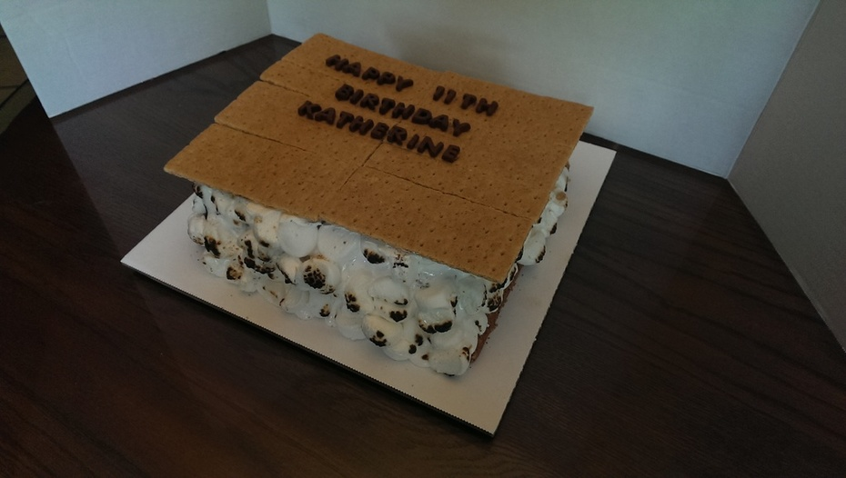 S'mores Birthday Cake