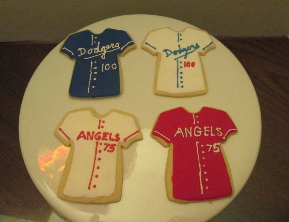 Dodger Fan Cookies and Angel's Fan cookies