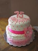 Women's 75th Birthday Cake