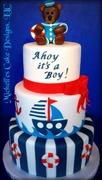 Ahoy it's a boy cake
