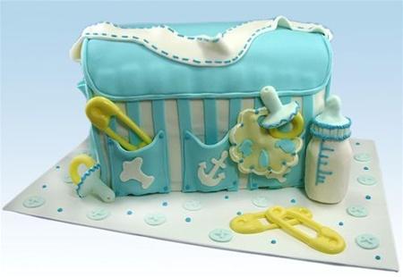 """""""It's In the Bag"""" Diaper Bag Cake"""