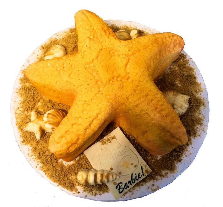 Stupendous Starfish Birthday Cake Cake Decorating Community Cakes We Bake Personalised Birthday Cards Akebfashionlily Jamesorg