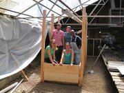GrowHaus volunteers rocking the aquaponics