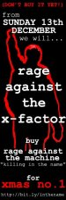 """RAGE AGAINST THE MACHINE """"KILLING IN THE NAME OF"""" FOR CHRISTMAS NUMBER 1 2009!"""