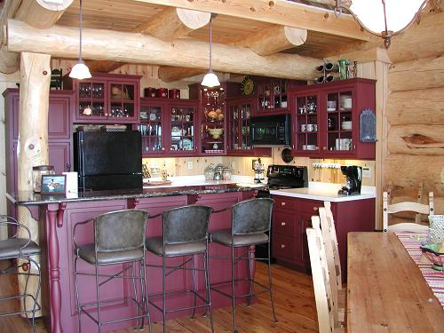 Painting Kitchen Cabinets What Color The Log Home