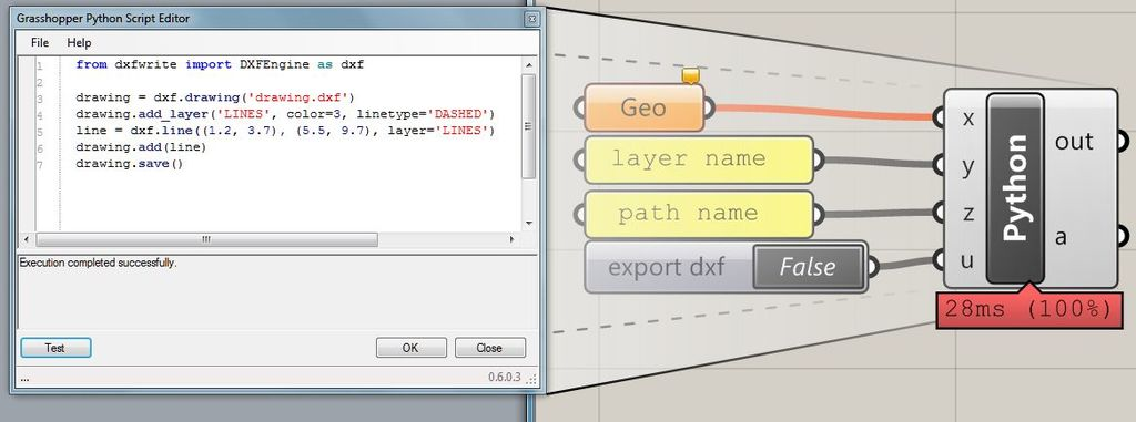 export dxf from ghpython - Grasshopper