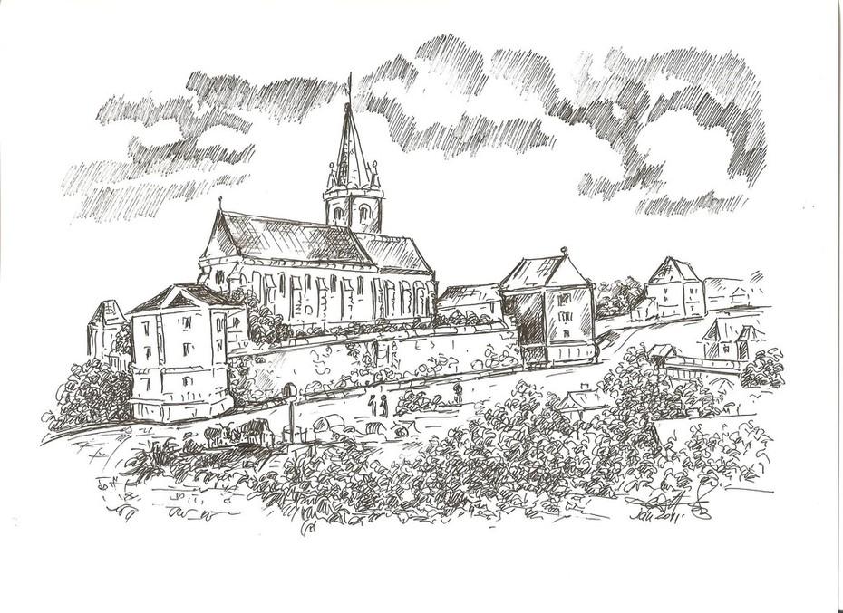 Tg.-Mureș, Cetatea medievală la 1890
