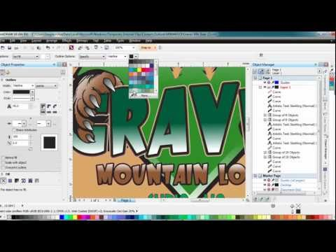 Working with outlines and complex graphics