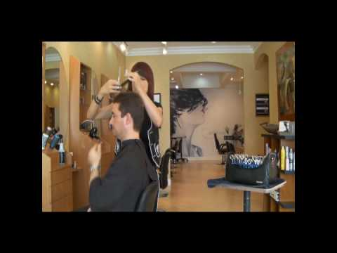 Claudia - west palm beach salon - simple bothhanded mens haircut