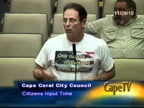 Atheists of Florida address City of Cape Coral on Ten Commandments issue