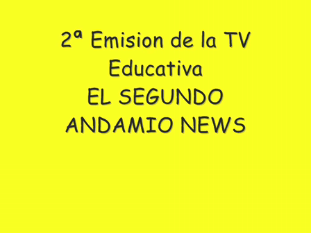 2ª Emision TV Educativa EL SEGUNDO NEWS