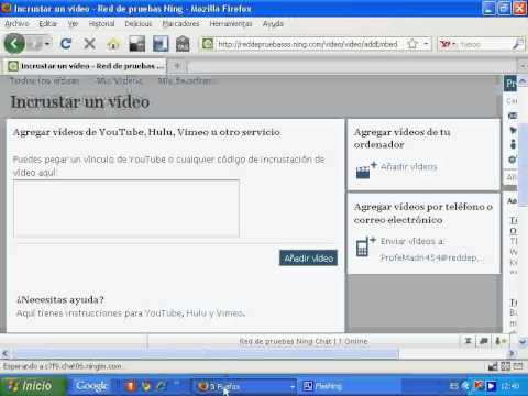 Añadir vídeo en Ning