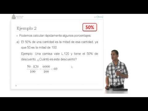 Ibertel Matemáticas Honduras 9º. 1  Numeros y Operaciones. Encontrar el porcentaje de un numero